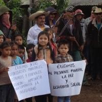 Se levantan en armas contra la delincuencia 12 pueblos de la Sierra de San Miguel Totolapan