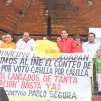 Marchan militantes de MC en Teloloapan; exigen recuento de votos