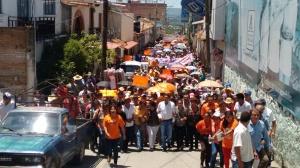 Aspectos de la marcha de simpatizantes de Movimiento Ciudadano en Teloloapan. (Fotografía: Jonathan Cuevas/API)