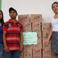Primera entrega de desayunos escolares calientes y fríos en Chilapa