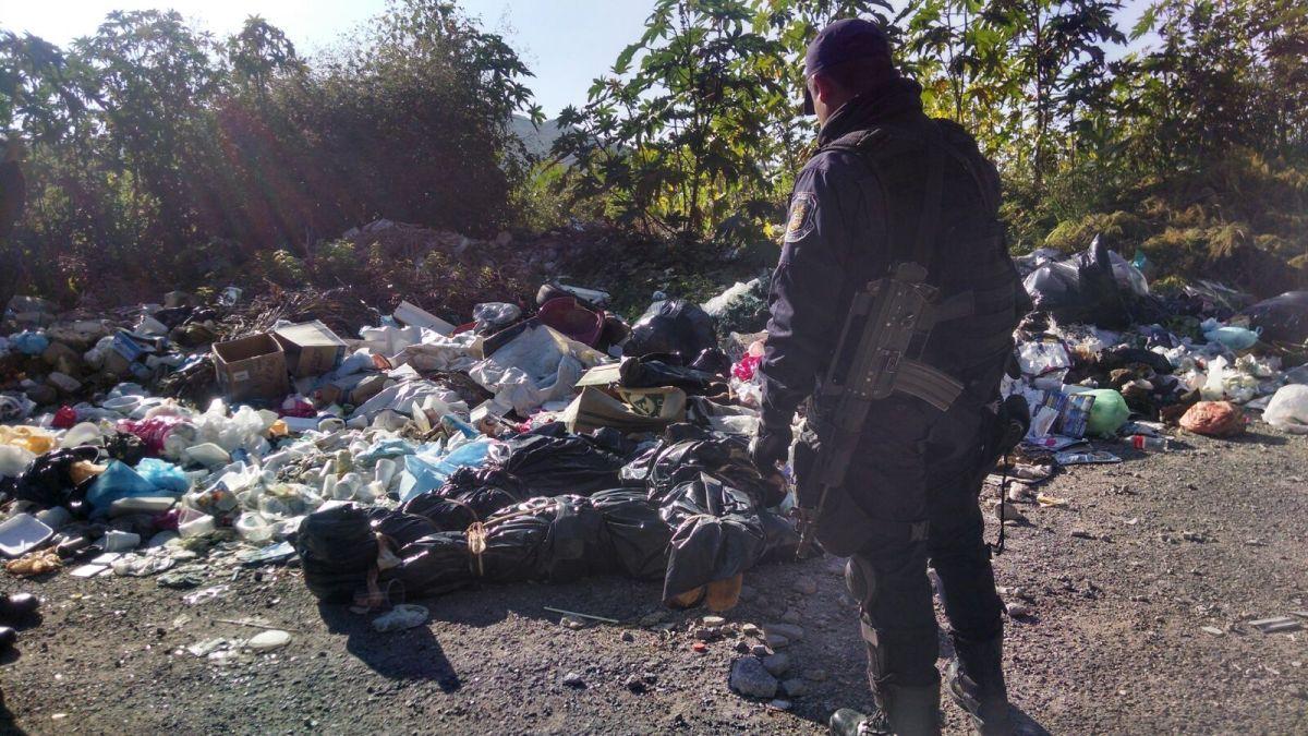 Aparecen otros tres ejecutados y embolsados, en la carretera Chilpancingo-Tixtla