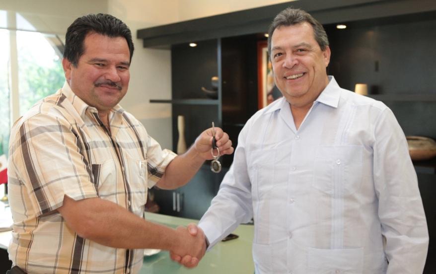 César Peñaloza con Ángel Aguirre