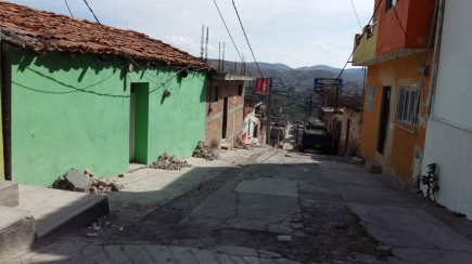 Aspecto de una de las calles de Zitlala. (Fotografía: Jonathan Cuevas/API)
