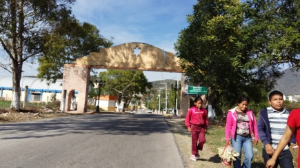 Entrada a la cabecera municipal de Zitlala. (Fotografía: Jonathan Cuevas/API)
