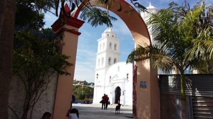 Iglesia de Zitlala tomada desde la plaza cívica. (Fotografía: Jonathan Cuevas/API)