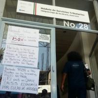 CETEG toma oficinas del SAT en Chilpancingo; protestan contra cobro de ISR