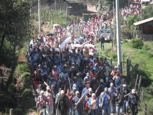 """Movimiento armado de pobladores de San Miguel, contra """"Los Tequileros""""."""