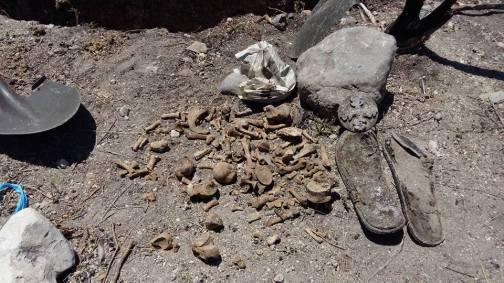 """Restos hallados por miembros del Comité """"Los Otros Desaparecidos"""", este domingo 27 de marzo."""